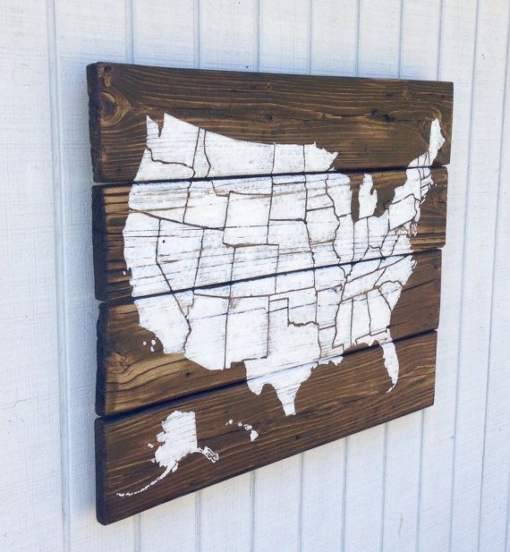 Wood USA Wall Map Fixerupper Fixerupperstyle Fixer Upper - Hobby lobby us map