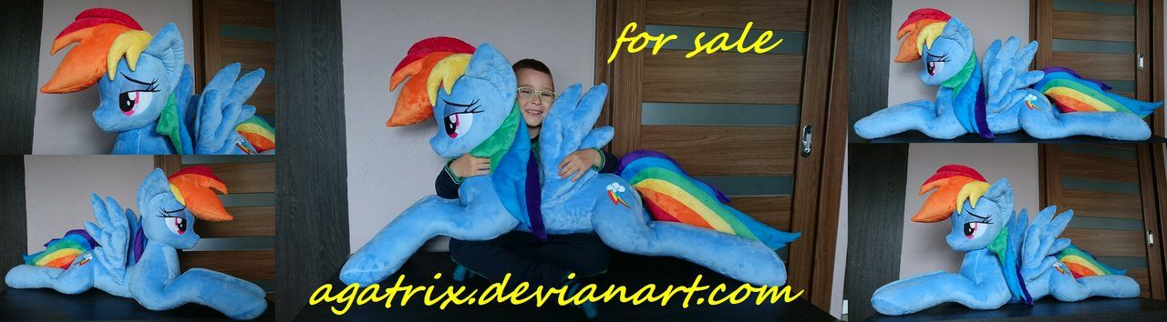Giant Life Size Laying Down Rainbow Dash For Sale By Agatrix