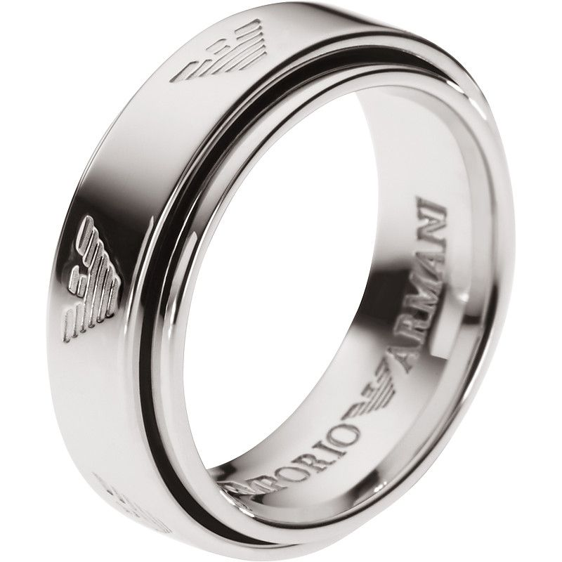 16722b53a0 stainless steel emporio armani ring | Men Ring in 2019 | Armani ...