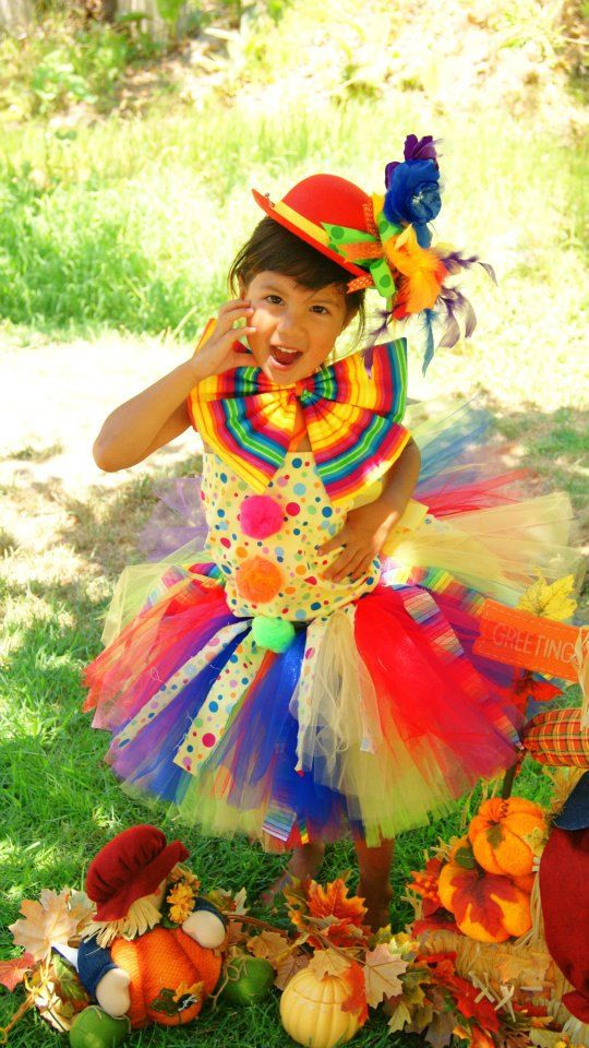 funky clown circus birthday costume tutu halloween. Black Bedroom Furniture Sets. Home Design Ideas