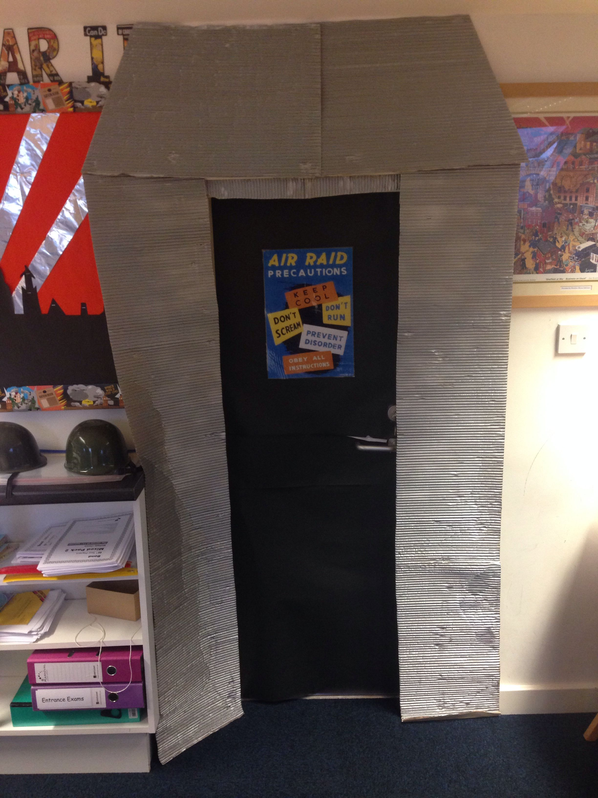 Air raid shelter created around my stock cupboard. Air