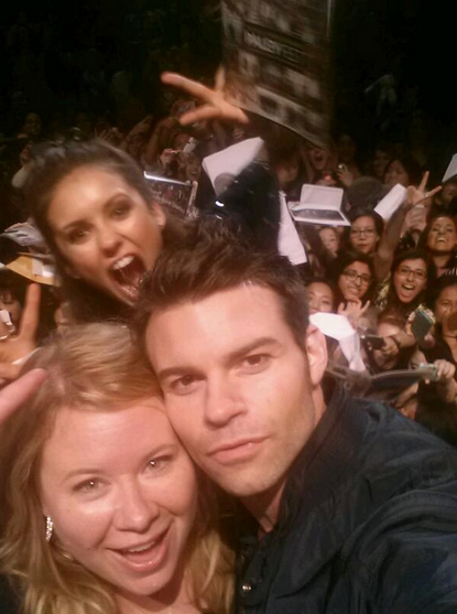 daniel gillies nina dobrev and julie plec the vampire