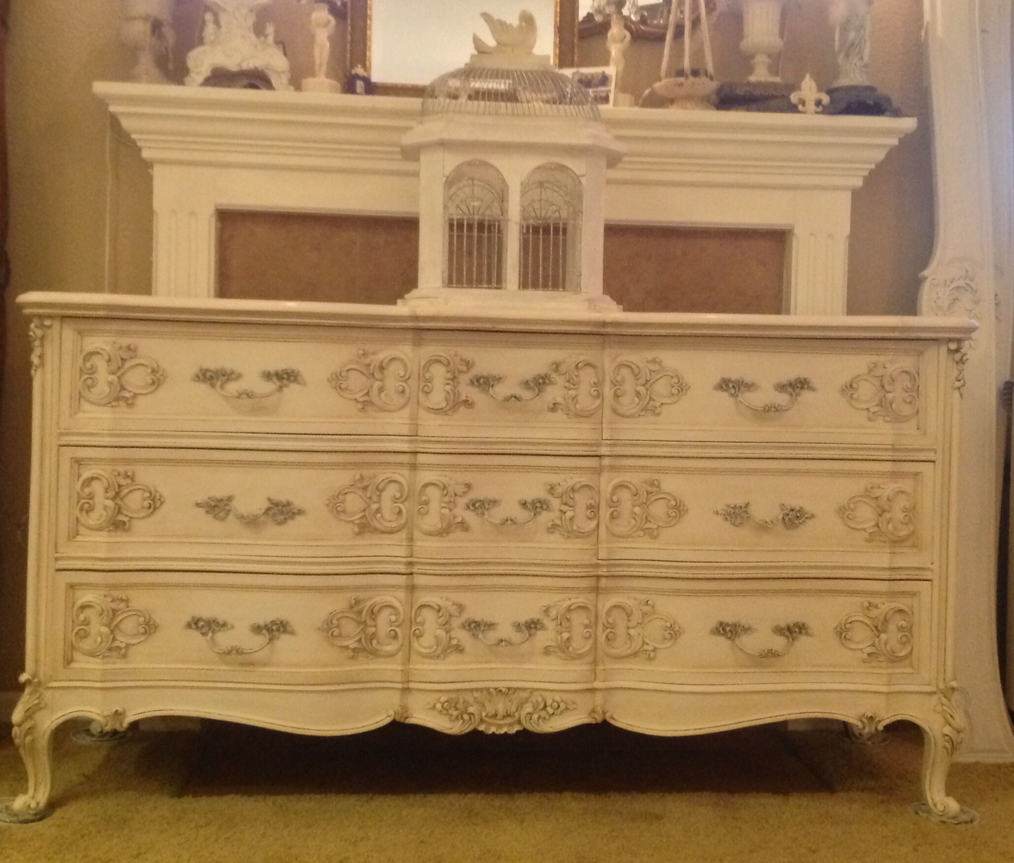 Ornate Hand Carved Vintage French 9 Drawer Dresser ~ Available In The San  Francisco Bay Area