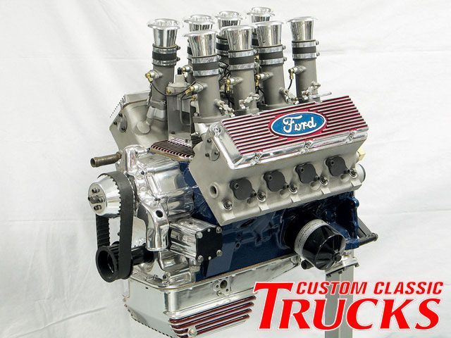 Weslake Ford Y Block Engine Custom Classic Trucks Engineering
