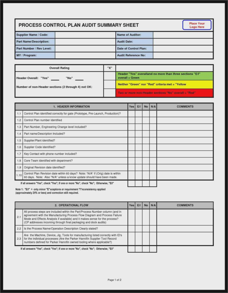 Supplier Audit Checklist Example Templates Novalaser