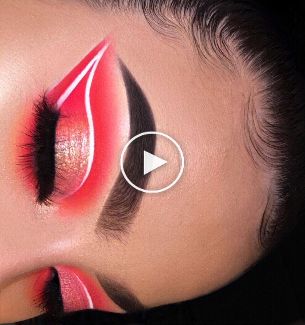 Pin på fargerik øyesminke in 2020 Valentines makeup