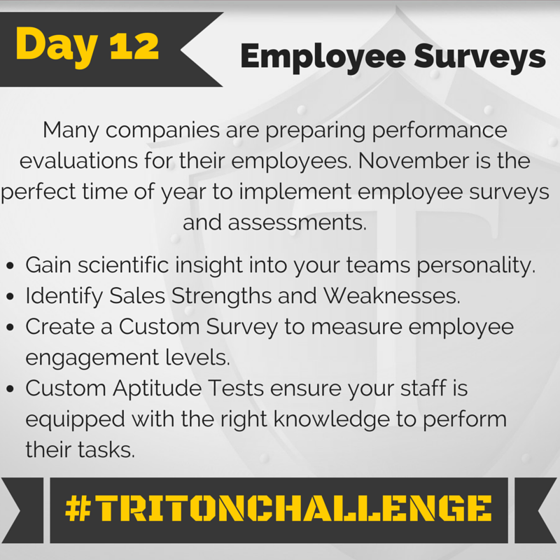 Tritonchallenge Day  Employee Surveys Many Companies Are