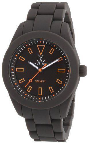 ToyWatch Velvety Gunmetal Silicone Unisex Watch VV10GU Toy Watch. $77.00. Analog Display. Water Resistance : 5 ATM / 50 meters / 165 feet. Round Case. Quartz. Black Silicone Strap. Save 66% Off!