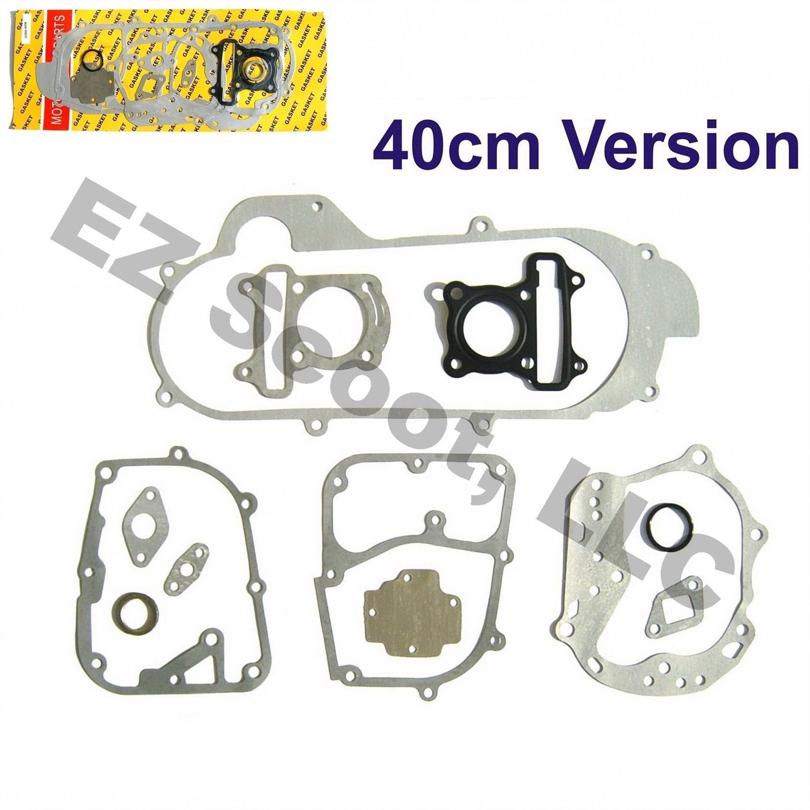 hight resolution of complete engine gasket set 50cc 40cm gy6 4 stroke chinese scooter 139 qma b ebay