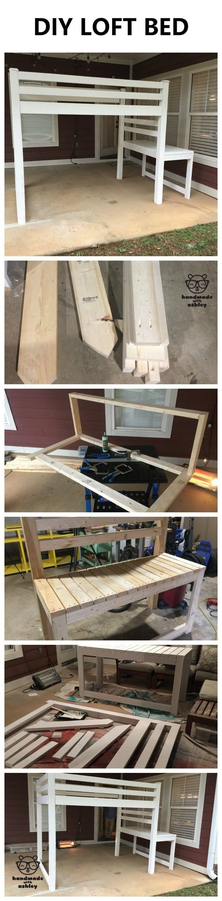 Plywood loft bed plans  DIY Junior Loft Bed  Free Woodworking Plans by ANA WHITE  Dané