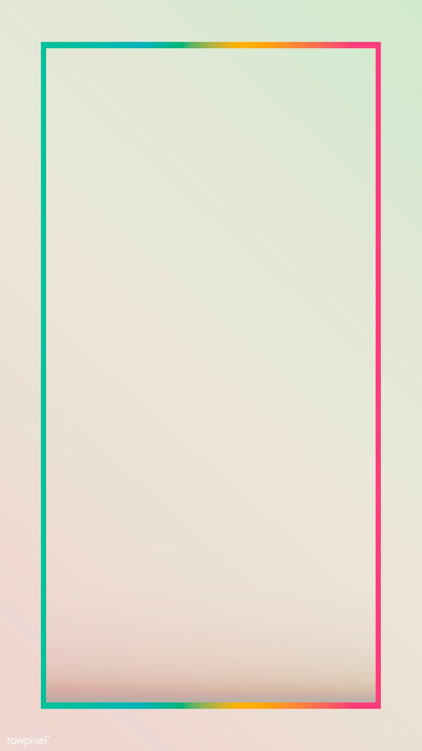 Download Premium Vector Of Gradient Border Mobile Phone Wallpaper Vector Phone Wallpaper Frames Design Graphic Flower Phone Wallpaper