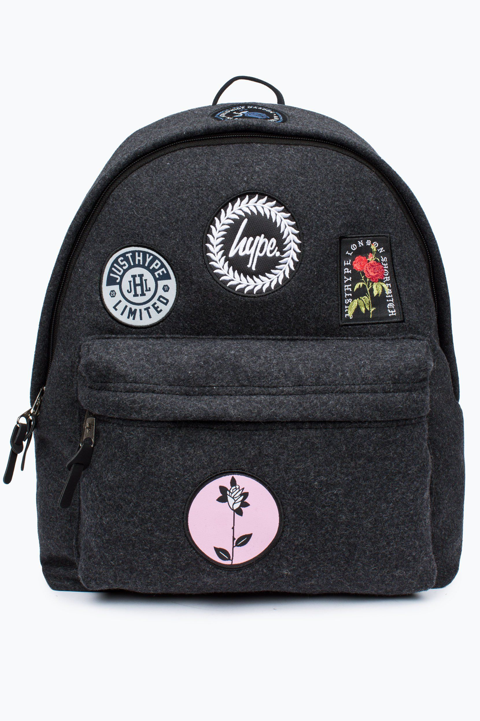 5fc06a0a90 HYPE GREY PATCH STASH BACKPACK