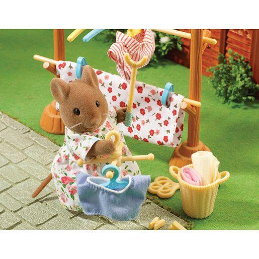Sylvanian Families Calico Critters Dolls Animals Drying Clothes set Ka-610 Japan