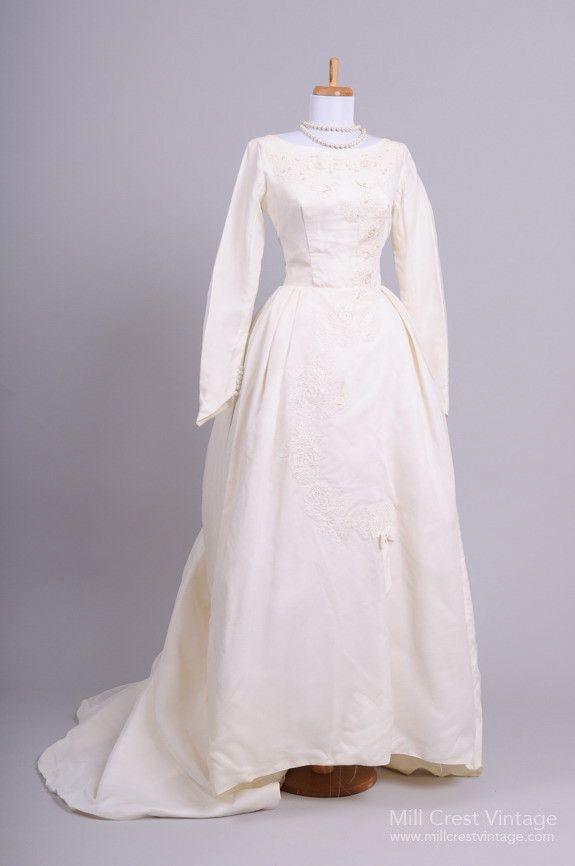 Formal Bustled Vintage Wedding Gown