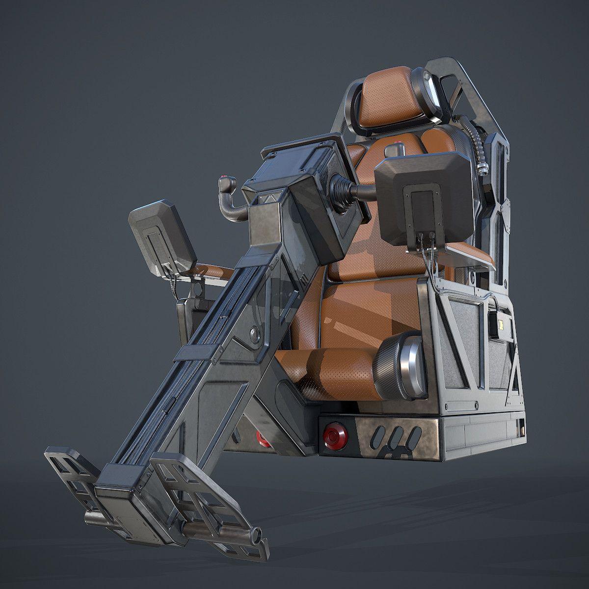 Artstation Spaceships Cockpit Pilots Seat Orest Terremoto