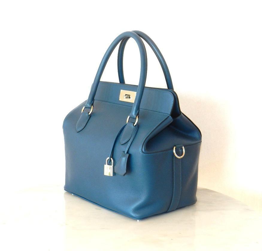 4185556ca9a2 Hermes Toolbox Blue Thalassa
