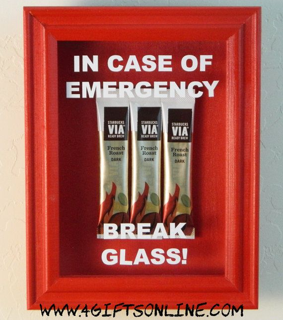 In case of emergency break glass shadow box coffee lovers gift in case of emergency break glass shadow box coffee lovers gift funny gift co worker gift office gift exchange negle Choice Image