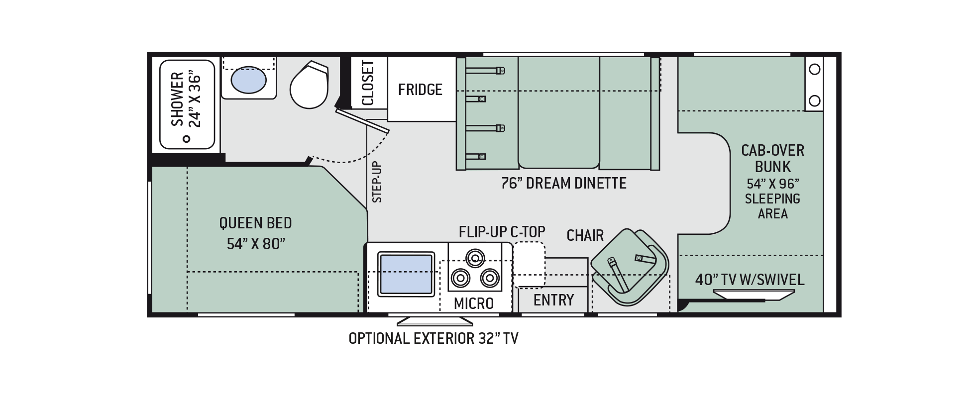 Floor Plans Chateau 23u With Images Rv Floor Plans Floor Plans