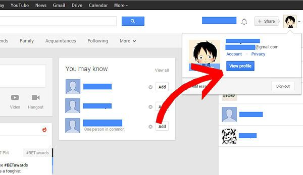 Create Circles in Google+