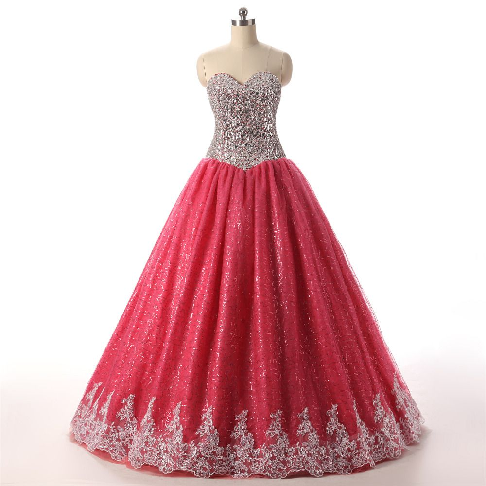Gsbridal red off the shoulder sweetheart corset beading sequin lace