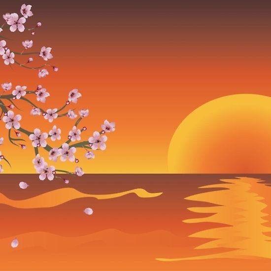 Sakura Branch at Sunset