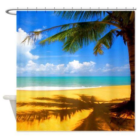 Beach Shower Curtain On Cafepress Com Beach Background Beach