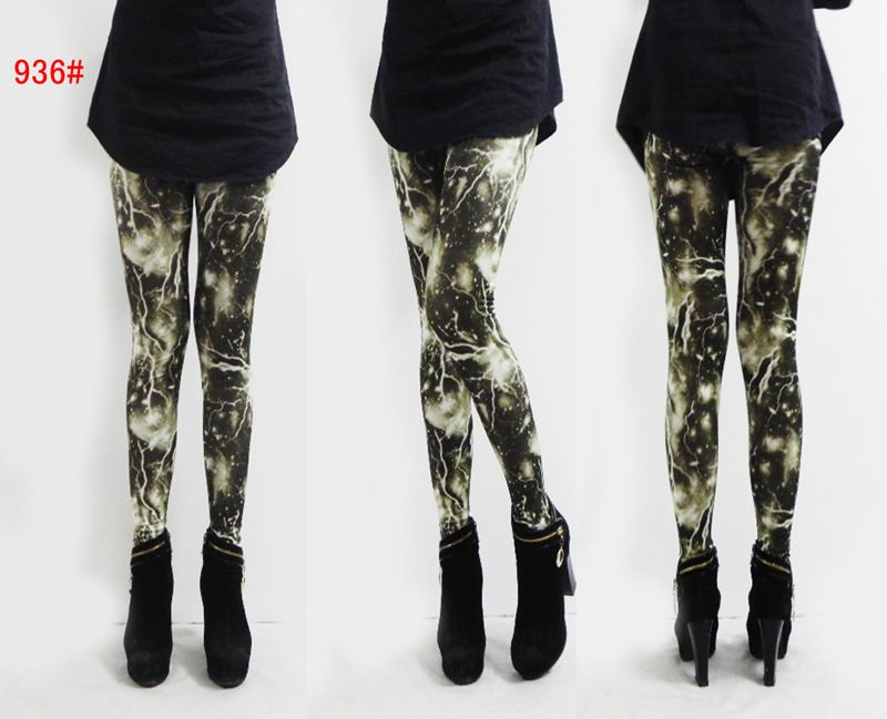 2013 Ladies' leggings Lightning Ladies Leggings CL0328 $11.2