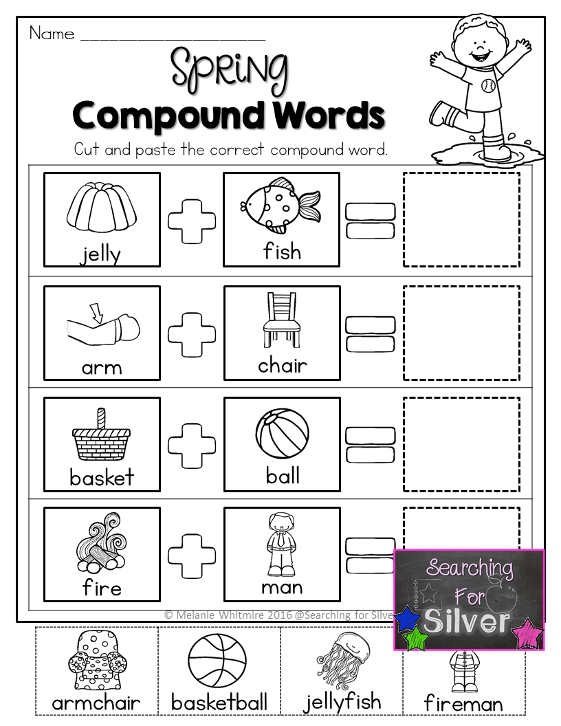 Spring Math and Literacy No-Prep {First Grade}   Compound ...