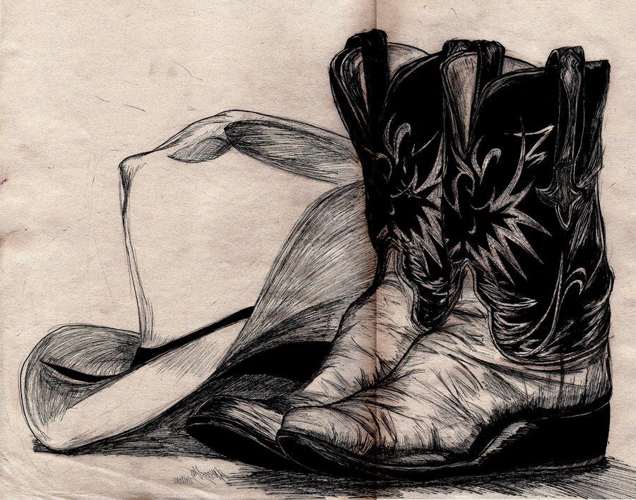 drawings of cowboy boots  026274bf96f