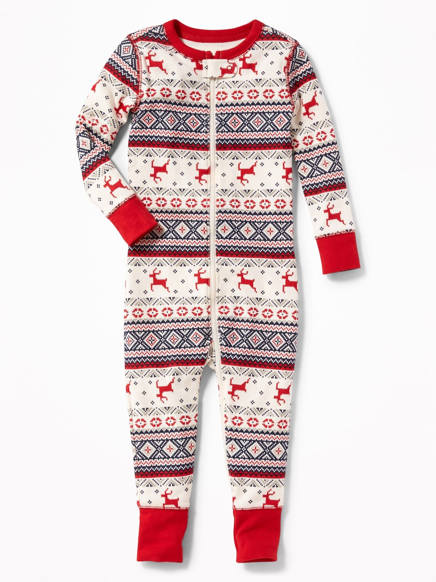 Holiday-Print One-Piece Sleeper for Toddler & Baby | Old ...
