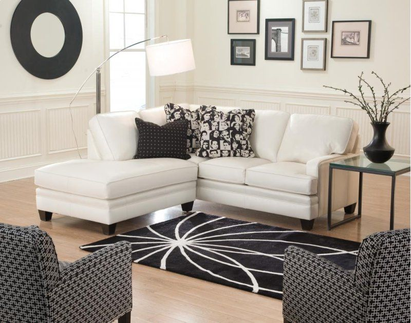 530164fabric In By Smith Brothers Furniture In Bowling Green Ky Left Facing Bumper Chaise Small Room Sofa Sectional Sofa With Chaise Small Sectional Sofa