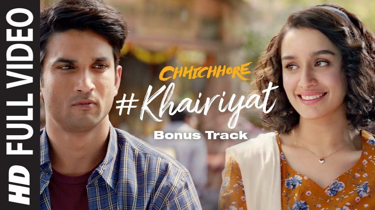 Full Song Khairiyat Bonus Track Chhichhore Sushant Shraddha Pritam Amitabh Bhattacharya Youtube Songs Bollywood Songs Amazon Prime Music
