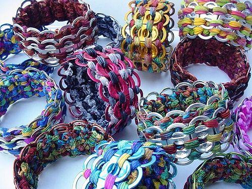 I love these bracelets. Bracelets Galore by Pop Top Lady, via Flickr