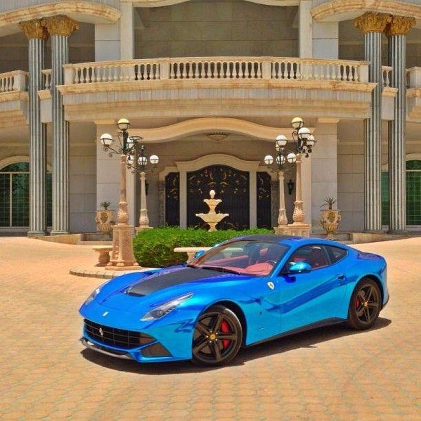 Fabulous Blue Chrome Ferrari F12 Berlinetta Luxury Car Lifestyle