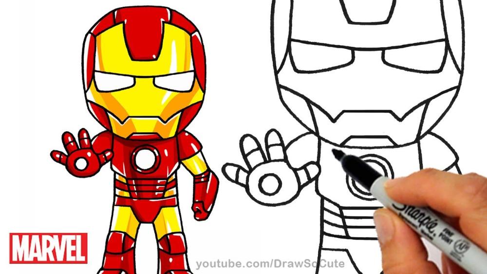 Ironman Dibujo Facil Para Ninos Cerca De Google Iron Man Drawing Easy Iron Man Drawing Iron Man Cartoon
