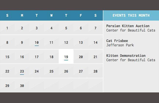 CLNDR.js: A jQuery calendar plugin that uses HTML templates ...