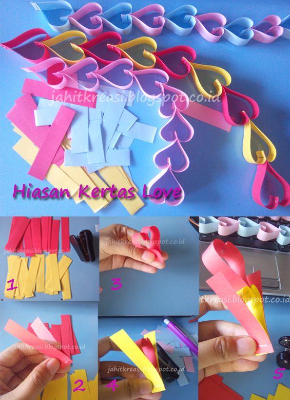 Kerajinan Origami Easy Diy Room Decor Flower Crafts Paper Handicraft
