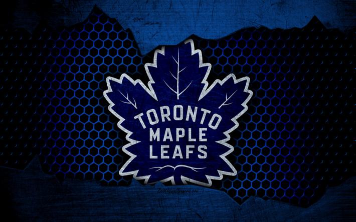 Download wallpapers Toronto Maple Leafs, 4k, logo, NHL