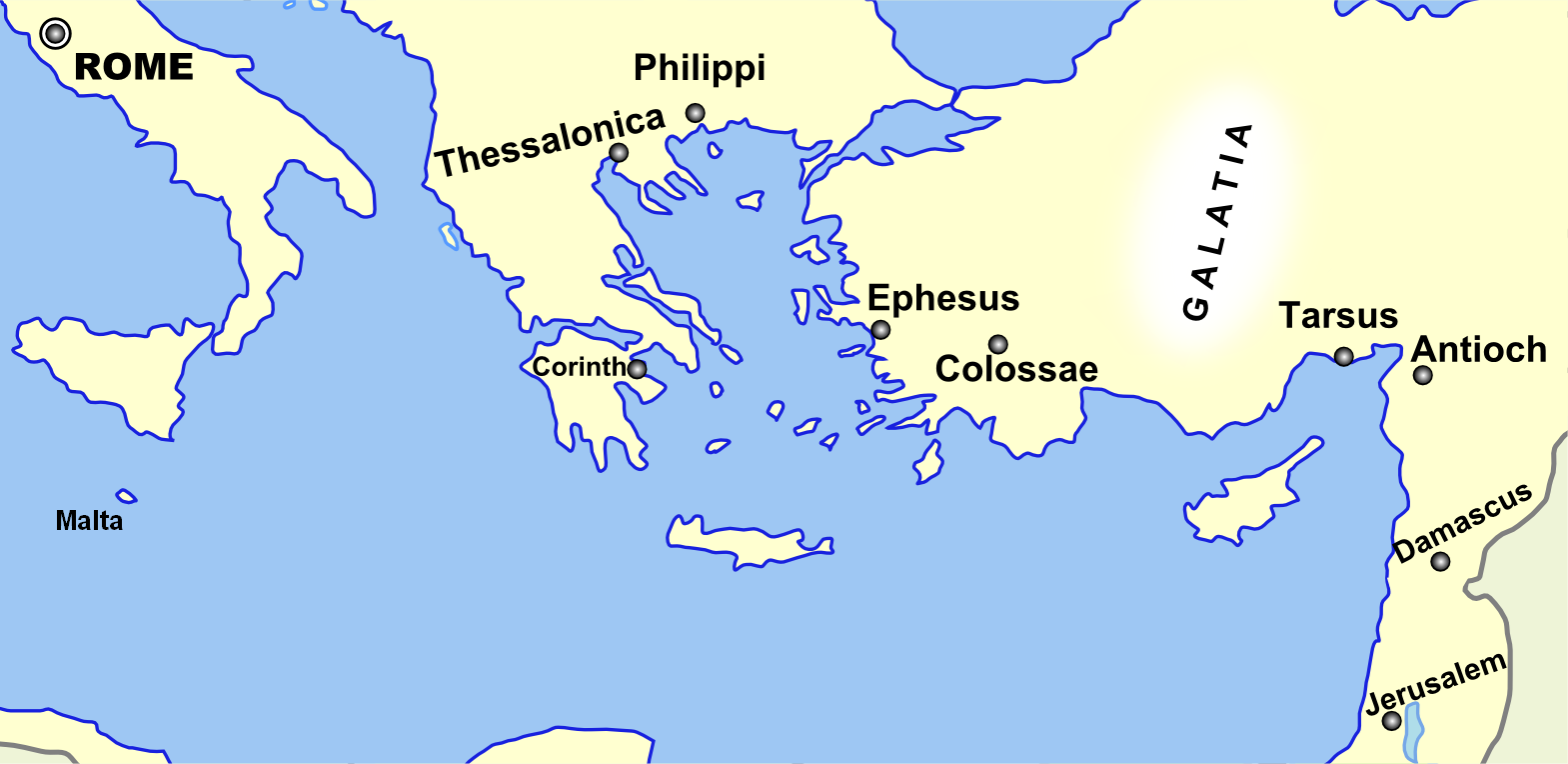 map ancient tarsus paul's journey