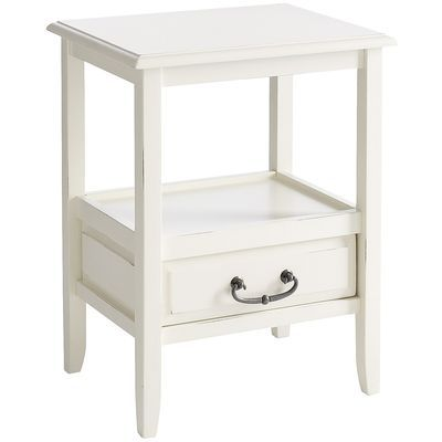 Best Anywhere Accent Table Antique White Would Like 400 x 300