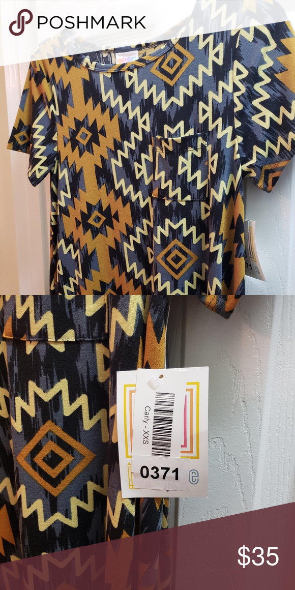 9c437dd7ac35 XXS Carly lularoe Short sleeve, high low dress with pocket on chest. Very  cute colors for fall. LuLaRoe Dresses High Low