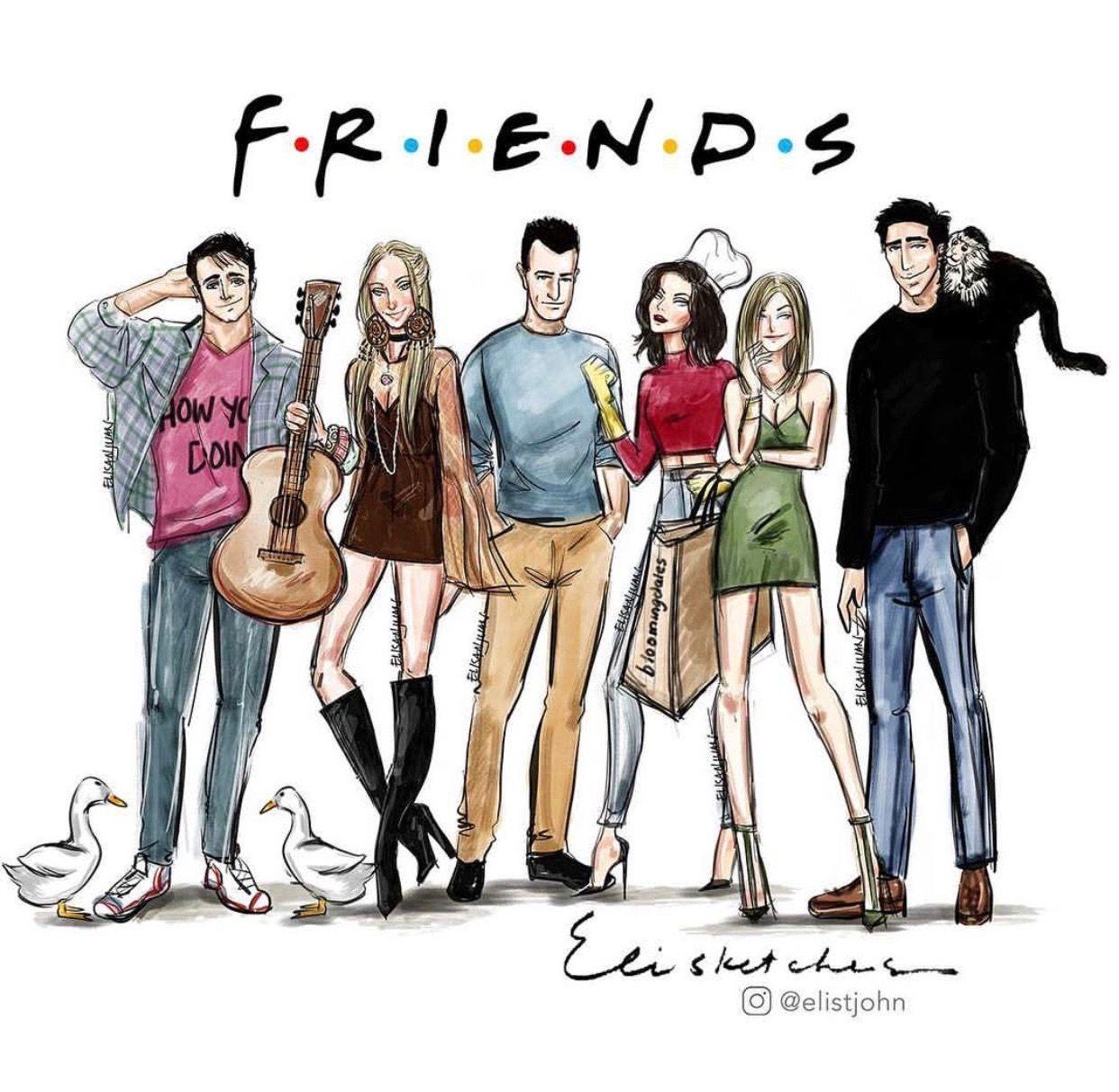 Elisketches Friends Friends Episodes Friends Tv Friends Sketch