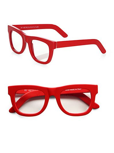 Super By Retrosuperfuture Red Optical Frames Red Eyeglass Frames Red Glasses Red Glasses Frames