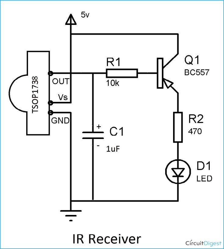 Image Result For Infrared Receiver Led Circuit Circuit Image Infrared Led Receiver Resul Elektronische Schaltung Elektroniken Elektronische Schaltplane