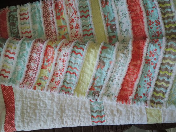 Jelly Roll Rag Quilt Pattern Tutorial, Easy to Make on Etsy, $4.99 ... : rag quilting patterns - Adamdwight.com