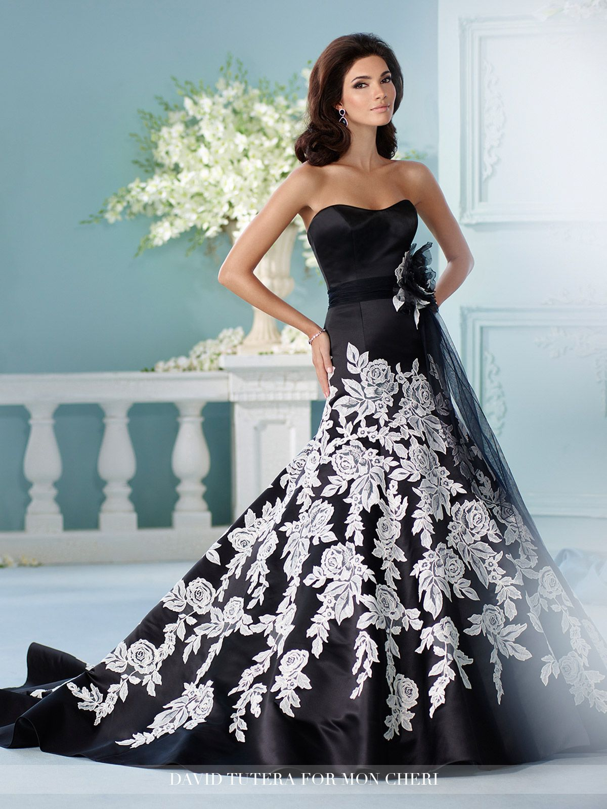 Simple Rose Pattern Lace Fit u Flare Wedding Dress Hinto