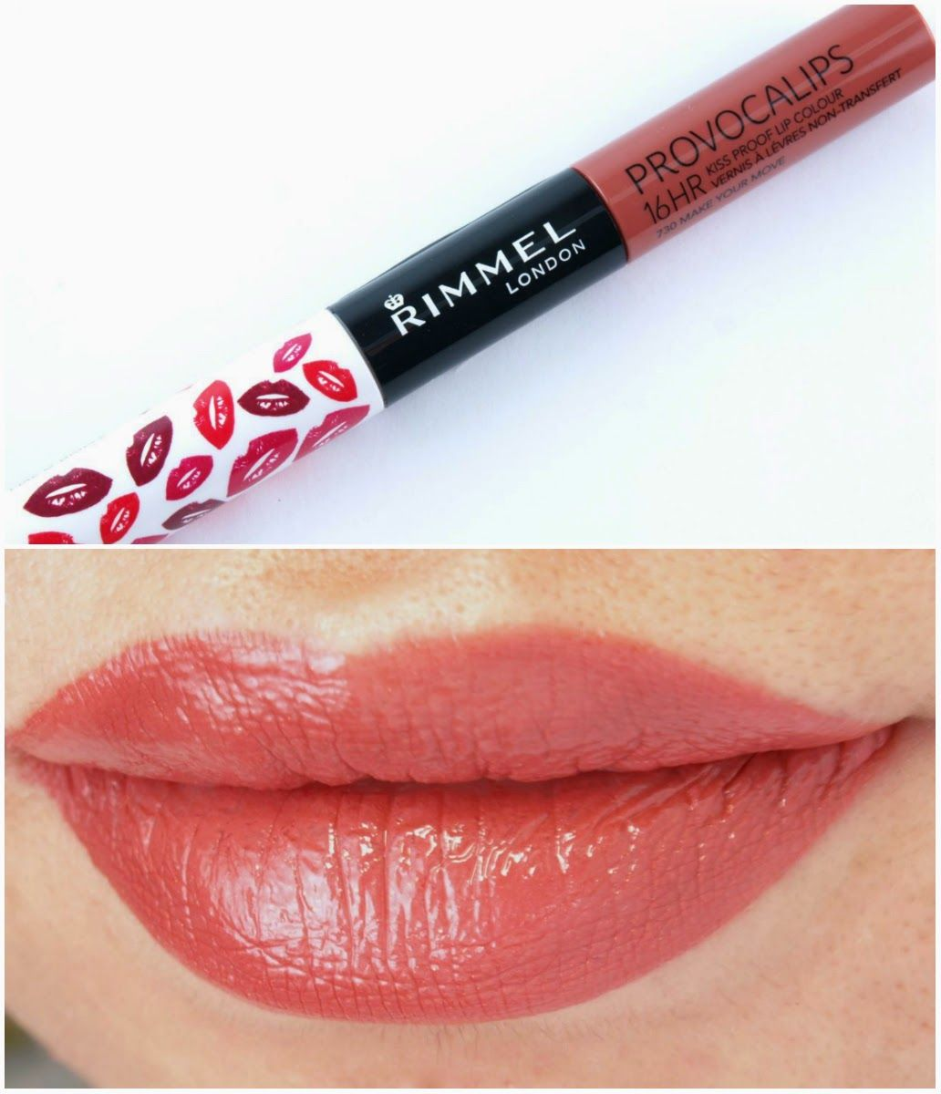 Rimmel Provocalips 16hr Kiss Proof Lip Color Review And Swatches Best Drugstore Liquid Lipstick Rimmel Provocalips Drugstore Liquid Lipstick