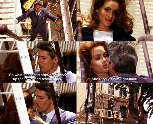 She Rescues Him Right Back Pretty Woman 1990 Movie Quotes Pretty Woman Quotes Woman Movie Quotes Pretty Woman Movie