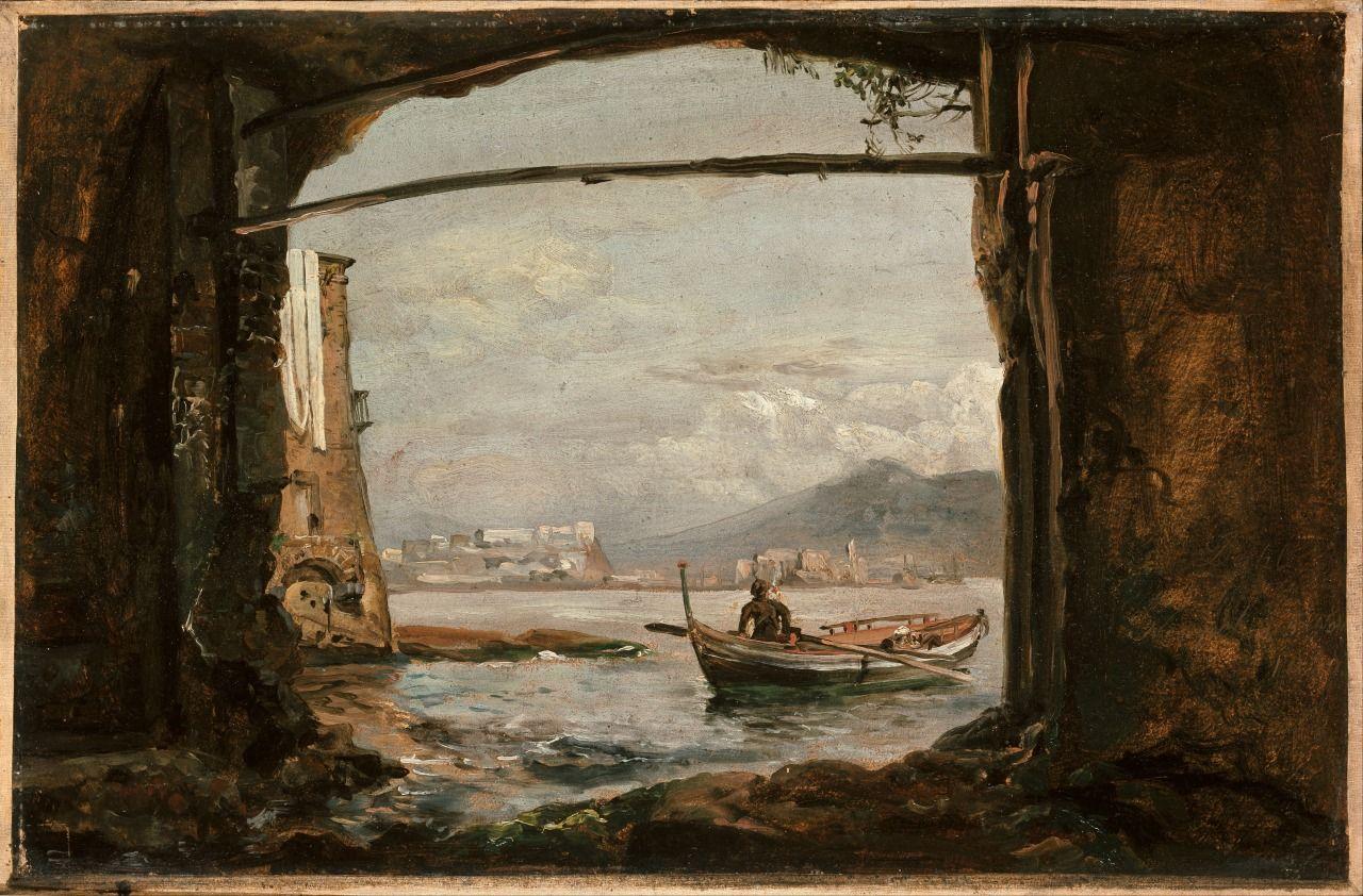 View from a grotto near Posillipo, 1820, Johan Christian