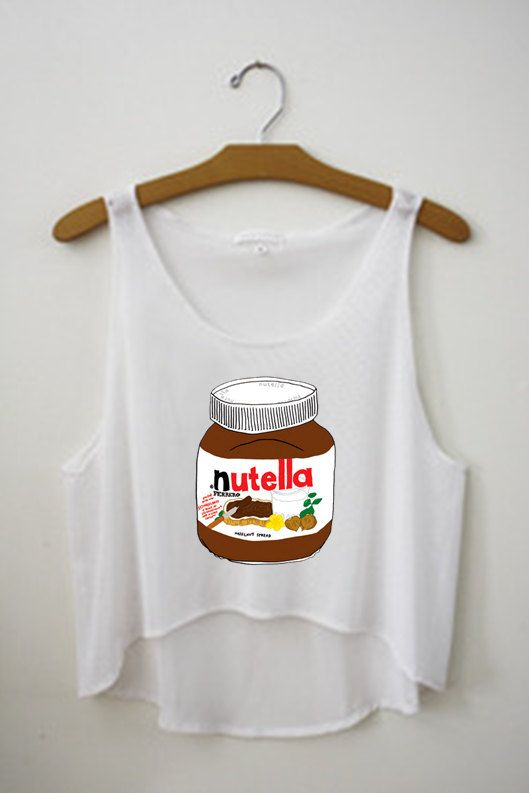 8dc1a0b38018 Nutella Tumblr Tank Crop Top Shirt on Etsy